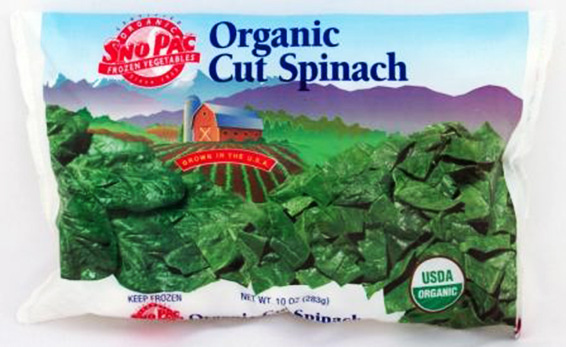 Organic Cut Leaf Spinach